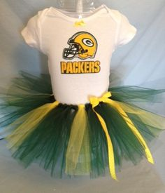 NFL Green Bay Packers Tutu Cheer Dress for Baby by hollieshobbies1, $24.95