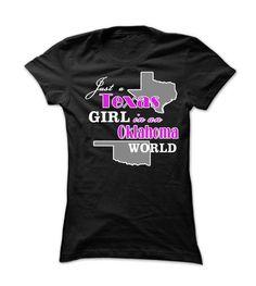 Texas Girl in an Oklahoma World! - #gift for girlfriend #monogrammed gift. GET => https://www.sunfrog.com/States/Texas-Girl-in-an-Oklahoma-World-232x.html?68278
