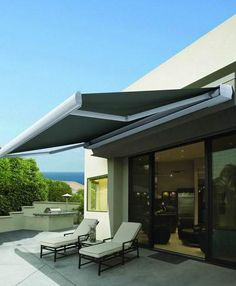 Folding Arm Awning - sun or rain, this awning can be retracted for those times that you don't need it, or, if the wind is too strong.