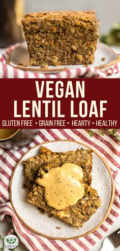 Hearty and Comforting, this Vegan Lentil Loaf has BIG flavor, but no weird ingredients! Gluten-Free, Grain-Free, and Oil Free. #vegan #plantbased #glutenfree #grainfree #lentilloaf #lentil via frommybowl.com