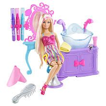 "Barbie Hairtastic Color and Wash Salon with Barbie Doll - Mattel - Toys ""R"" Us"
