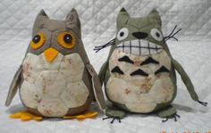 小貓頭鷹 & 小龍貓 Baby Owl & baby Totoro