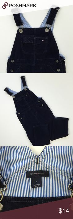 Tommy Hilfiger Navy Blue Corduroy Overalls Tommy Hilfiger  Size:5  Navy Blue corduroy overalls in excellent/new condition! This item was worn for a family photo only. It's in perfect condition and ready to be enjoyed again and again. This item is warm and the color is a rich navy blue that has easily paired with many items. I will package perfectly and with love. 💜 From a non-smoking home. Tommy Hilfiger One Pieces