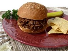 Barbecue Beef Sandwich Beef Noodle Soup, Beef And Noodles, Beef Sandwich, Sandwich Recipes, Maidrites Recipe, Cooker Recipes, Beef Recipes, Pillsbury Crescent Recipes, Beef Barbecue