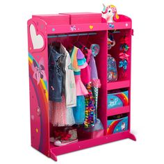 Mirror With Shelf, Mirror Shelves, Built In Shelves, How To Store Shoes, Delta Children, Hanging Bar, Garment Racks, Fabric Bins, Hanging Clothes