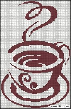 Кофе 19 схема скачать монохром кофе еда и напитки вышивка