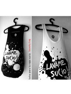 www.estiloespla.com.ar Pinterest ¿Vieron qué lindas son las bolsas para la ropa sucia de. Pla! ? Limpiando el ropero...