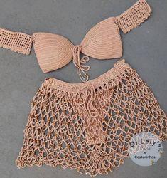 Crochet Bikini Pattern, Crochet Cardigan, Crochet Top, Crochet Lingerie, Mode Du Bikini, Crochet Stitches For Beginners, Crochet Woman, Knit Fashion, Handmade Clothes