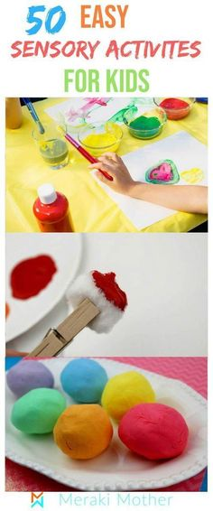 Sensory activities for kids. Sensory bins sensory bottles sensory activities for babies sensory activities for toddlers and more. Over 50 sensory play ideas that you can do at home. - Life and hacks Sensory Activities For Preschoolers, Infant Sensory Activities, Indoor Activities For Kids, Baby Sensory, Sensory Bins, Sensory Play, Group Activities, Sensory Table, Summer Activities