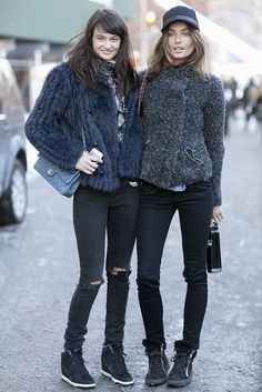 double trouble. #AndieArthur & #AndreeaDiaconu #offduty.