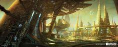 Tween City By Camille Picture  (2d, concept art, sci-fi, landscape, city)