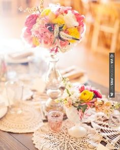Awesome - Arrangements of peonies, jasmine, garden roses, and ranunculus in vintage glass vessels decorated long tables at this real wedding | CHECK OUT MORE GREAT VINTAGE WEDDING IDEAS AT WEDDINGPINS.NET | #weddings #vintagewedding #weddingvintage #oldweddingphotos #events #forweddings #iloveweddings #romance #vintage #planners #old #ceremonyphotos #weddingphotos #weddingpictures