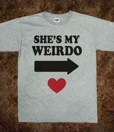 She's My Weirdo (ALT Shirt)-Unisex Dark Ash T-Shirt from Skreened #jacole