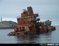 Abandoned Russian Battlecruiser