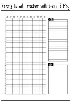 Yearly Habit Tracker Free Printable - Track a Habit All Year Long