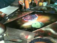 Star Cities - Spray Paint Art by René Schell