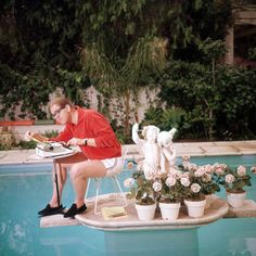 Stan Freberg shot by Slim Aarons. I miss you, daddy. And Slim, you are my photographic hero. The fact that my all time favorite photographer shot my all time favorite picture of my daddy makes me leap with joy. It also makes me want to get out my camera and put on my swim trunks.