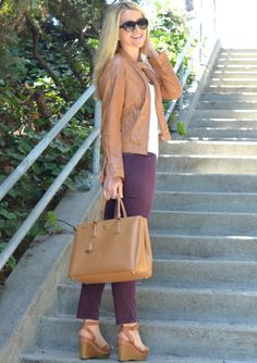 Trendy Mondays Blog: Fall Trend - brown leather jackets (@Luci Petlack (Luci's Morsels))
