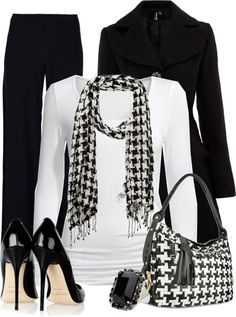 """""""Houndstooth"""" by cindycook10 on Polyvore"""