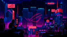 Pixel Jeff on Behance 2k Wallpaper, Original Wallpaper, Designer Wallpaper, Pixel Art Background, Background Pictures, Pixel Animation, 8 Bits, Cyberpunk City, Photo Wall Collage