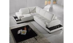 I just got a coupon for sharing:  Modern Sectional Sofa in White Bonded Leather #eurolux