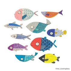 Fish Illustration | Heegyum Kim (@hee_cookingdiary) on Instagram