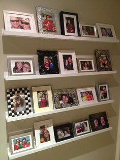 My new photo rails. Easy to switch things around and looks great.