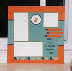 Hot Diggity Dog Scrapbook Page, Stampin'Up!, layouts, www.stampwithsarahs.com
