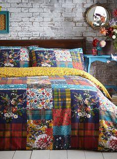 Multi chestnut Patch Bed - bedding sets - bedding sets - Bed Linen - Home, Lighting & Furniture Linen Bedding, Bedding Sets, Bed Linens, Cozy Bedroom, Bedroom Decor, Bedding Inspiration, Bed Linen Design, Bed Linen Sets, Cool Beds