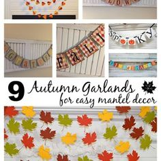 Autumn Garland Ideas For Mantel Decor | DazzleWhileFrazzled.com