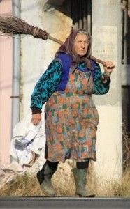 She is a hobo carrying multiple cloths just like Phoebe