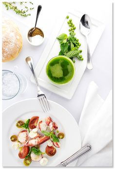 Seasonal #summer dishes at Peninsula Grill in #Charleston, S.C. #delicious #soup #lobster #dinner