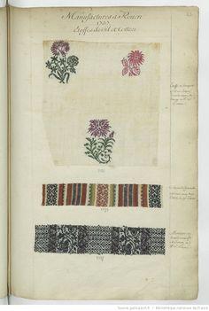 Manufactures à Rouen // 1737 // Etoffes de fil et Cotton : [échantillons de tissus]