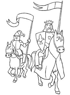Knight Guaring A King Coloring Page : Coloring Sky Online Coloring Pages, Free Printable Coloring Pages, Colouring Pages, Coloring Books, Free Adult Coloring, Coloring Sheets For Kids, Rei Arthur, Castle Crafts, Medieval Party