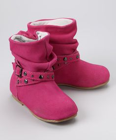 Take a look at this Fuchsia Studded Boot by L'Amour Shoes on #zulily today!