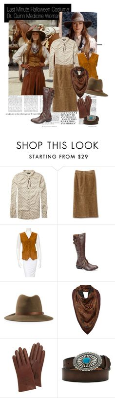 """Last Minute Hallowee Costume: Dr. Quinn Medicine Woman"" by flowersofthefield ❤ liked on Polyvore featuring Nicki Minaj, Scotch & Soda, Fendi, b.o.c. Børn Concept, rag & bone, Lauren Ralph Lauren, Mulberry and Ariat"