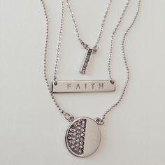 Faith layered necklace!