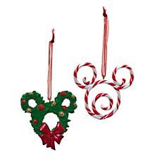 Disneyland Paris Mickey Mouse Decorations, Set of 2 - Give your tree a Disney twist with these Mickey Mouse decorations! Candy Cane Decorations, Mickey Mouse Decorations, Disney Christmas Decorations, Disney Ornaments, Disney Home Decor, Christmas Ornament Crafts, Holiday Crafts, Christmas Stuff, Christmas Tree