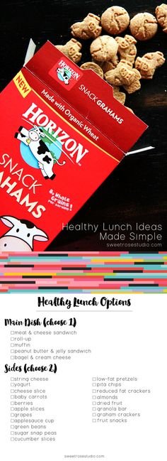 Healthy Lunches Made Simple with a FREE Printable Lunch Menu at Sweet Rose Studio