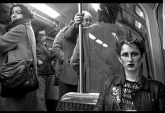BOB MAZZER, 'A punk girl in the late From the series 'London Underground in the in today's the Telegraph. London Underground, Old London, East London, Vintage London, Leica, Punk Women, Punk Girls, Gothic Girls, Retro Pictures