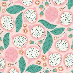 213601 Dragonfruit Quilter's Cotton from Ethereal Jungle by Elizabeth Olwen for Cloud9 Fabrics