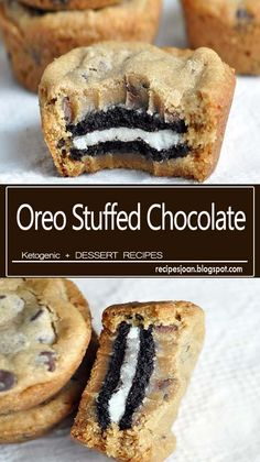 These Oreo Stuffed Chocolate Chip Cookies are Double stuffed Oreo cookies sandwiched in between two chocolate chip cookies. Cookie Desserts, Oreo Cookies, Chocolate Chip Cookies, Cookie Recipes, Snack Recipes, Dessert Recipes, Snacks, Easy Recipes, Toffee Cookies