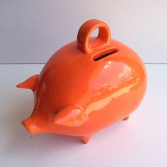 Cute piggy bank from fruitflypie on etsy