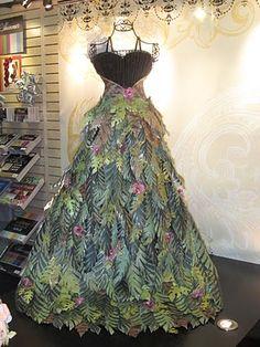 DCWV scrap paper dress