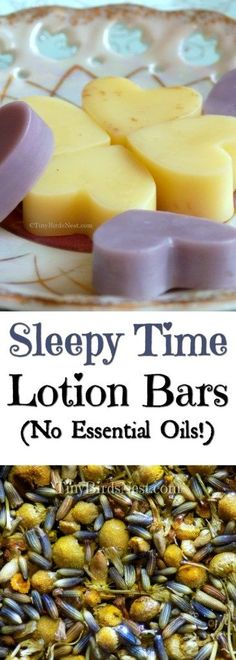 These Conversation Heart Sleepy Time Lotion Bars are perfect for settling down before bed and help soothe your kids' dry skin and possibly eczema. Recipe is essential oil free! #dryskin #herbalremedy #diylotion #diy #valentinesday