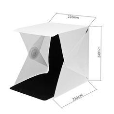 Estudio Fotogr/áfico Port/átil 1 led light SinMer Fotograf/ía de Photo Studio Box Tienda Softbox LED de luz Caja suave Kit de fondo para fotos Caja de luz para c/ámara de tel/éfono inteligente DSLR