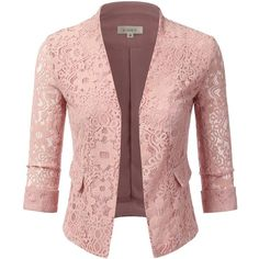 f3ac7dba46fc5 Doublju Women s Plus Size Classic Collarless Open Front Blazer Jacket...  ( 31)