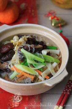For those abstaining from meat on the first day of Chinese New Year, a vegetarian dish which is commonly served is Jai素. This dish is harmo...