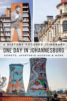 Experience one day in Johannesburg with this perfect 1 day itinerary with a visit to Soweto, The Apartheid Museum & hip neighborhood Maboneng. Travel Guides, Travel Tips, Travel Stuff, Travel Abroad, Travel Goals, Travel Advice, Africa Destinations, Holiday Destinations, Vacation Destinations