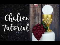 Chalice tutorial | First Holy Communion Cake Topper - YouTube